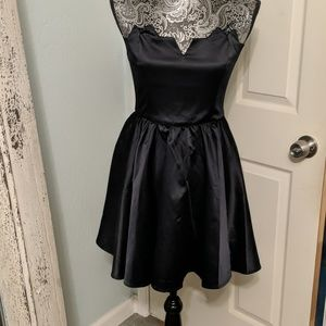 Keepsake Macy's black satin dress